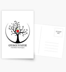 Give Back to Nature Logo - For Light Backgrounds Postcards
