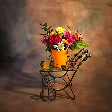 Garden Cart With Flowers by kdxweaver