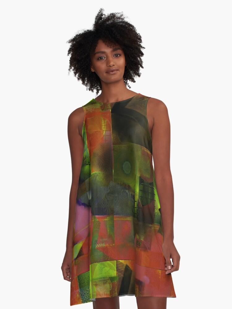 Glimpses A-Line Dress Front