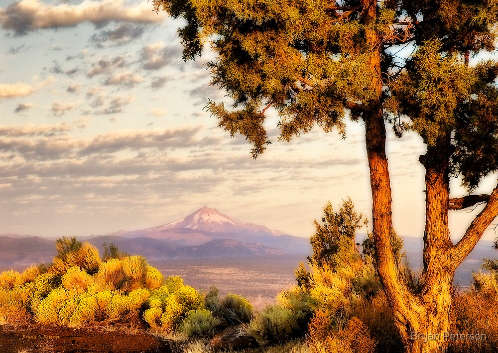 Sunrise on Mount Jefferson by Bryan Peterson