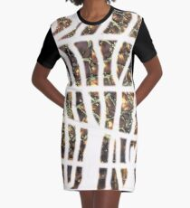 Experimentell, Goldperlen, abstrakt T-Shirt Kleid
