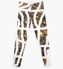 Experimentell, Goldperlen, abstrakt Leggings