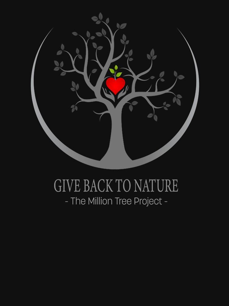 Geben Sie zurück zu Natur-Logo - dunklen Hintergrund von DiFruscia