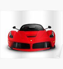 Ferrari F150 LaFerrari supercar sports car front view art photo print Poster