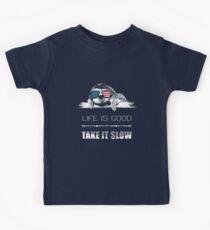 Sloth - Life is good, take it slow.  Kids Tee