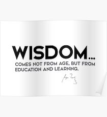 wisdom: education and learning - anton chekhov Poster