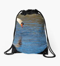 Love is in the Air (swans) Drawstring Bag