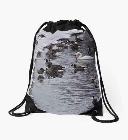 Stranger In the Flock ! Drawstring Bag