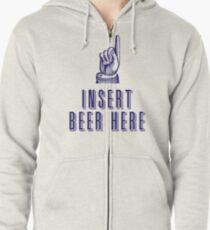 Insert Beer Here Zipped Hoodie