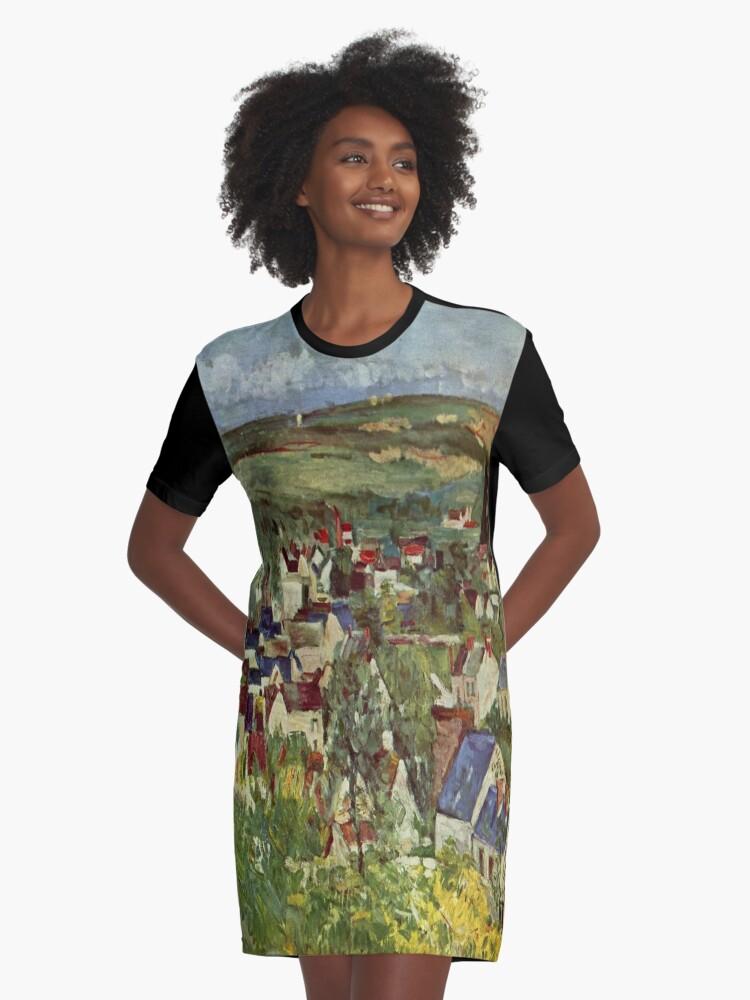 Vestidos camiseta «Auvers, vista panorámica-Paul Cézanne» de ...