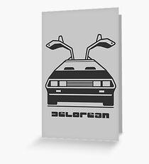 DeLorean Greeting Card