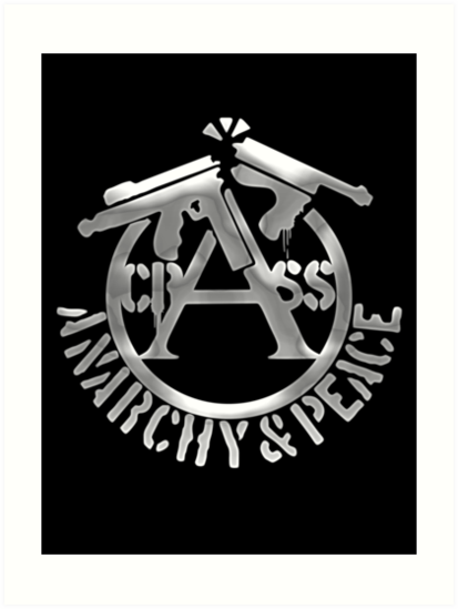 Crass Anarchy And Peace Art Prints By Nevered Redbubble