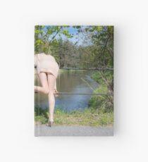 Blonde upskirt Hardcover Journal