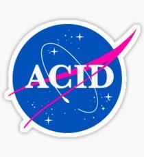 Acid Logo Nasa Sticker