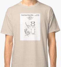 Iconic Eames Recliner/Lounger Lounge Chair Patent Drawings Classic T-Shirt