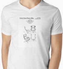 Iconic Eames Recliner/Lounger Lounge Chair Patent Drawings Mens V-Neck T-Shirt