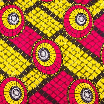 African wax print pink and yellow by hellcom
