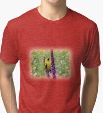 Camiseta de tejido mixto Jilguero en el jardín