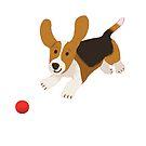 happy basset hound by Tiphanie Beeke
