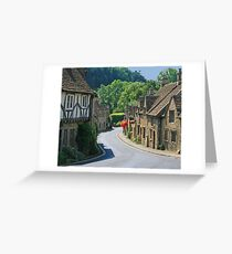 The Street, Castle Combe Greeting Card