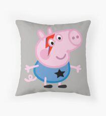 Bowie Pig Throw Pillow