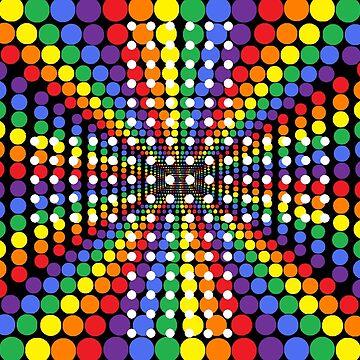 Psychedelic Retro Bubbles by IvysCraftShop