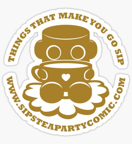 STPC: Things That Make You Go Sip (Gold O'BOT) 1.0 Sticker