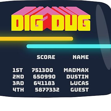 Hawkins Arcade dig-dug design by DanDobsonDesign