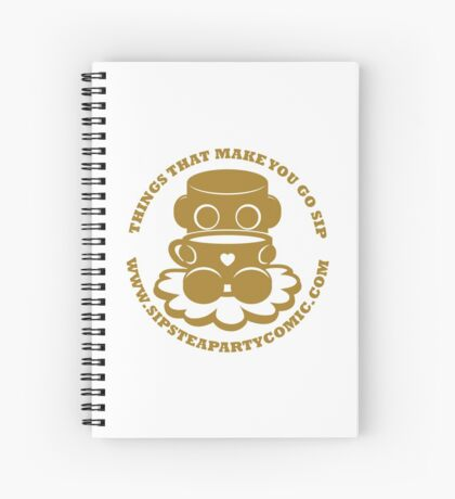 STPC: Things That Make You Go Sip (Gold O'BOT) 1.0 Spiral Notebook