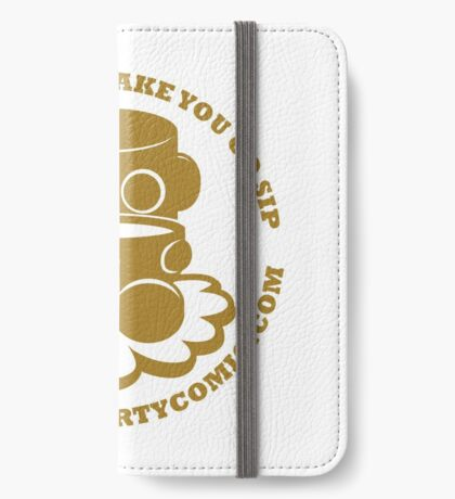 STPC: Things That Make You Go Sip (Gold O'BOT) 1.0 iPhone Wallet