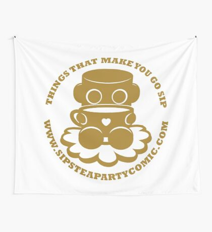 STPC: Things That Make You Go Sip (Gold O'BOT) 1.0 Wall Tapestry