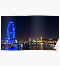 London Skyline bei Nacht Poster