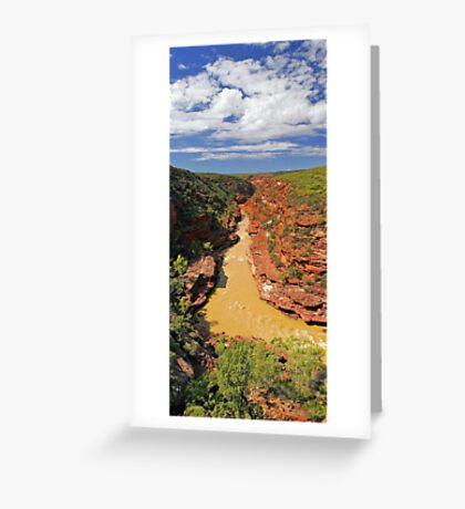 Murchison River Gorge - Western Australia  Greeting Card
