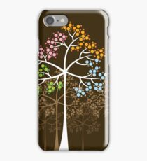 Colorful Four Seasons Trees iPhone Case/Skin