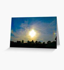 Double Sundog At Sunset Greeting Card