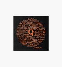 Qanon - Great Awakening - QResearch - Cryptograph Art Board