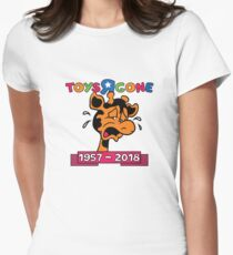 """Toys """"R"""" Gone Farewell Toys """"R"""" Us Women's Fitted T-Shirt"""