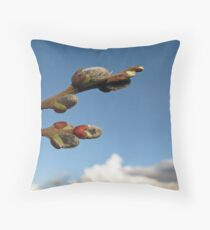 Willow Clouds Throw Pillow