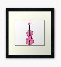 Violin Pink Framed Print