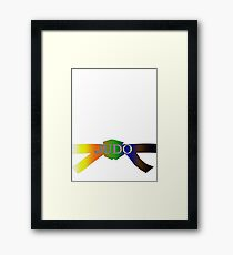 Judo Belt - Gradient Framed Print