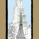 NYC~Church Steeple, open the doors and see all the people by James Lewis Hamilton