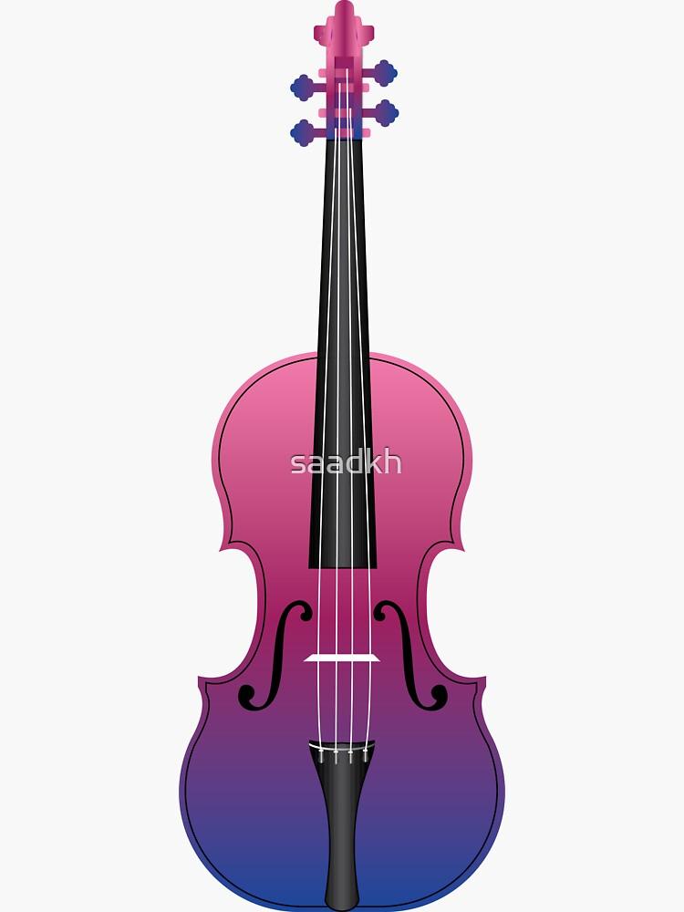 Violin Purple and Blue by saadkh