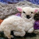 Needle Felted Lamb by brusling