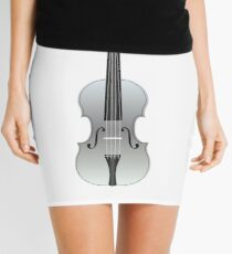 Violin Silver Mini Skirt