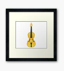 Violin Gold Framed Print
