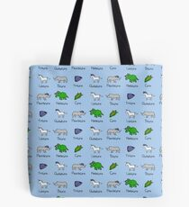 Unicorn, Bicorn, Tricorn, Quadcorn, Pentacorn, Hexacorn ... and Corn Tote Bag
