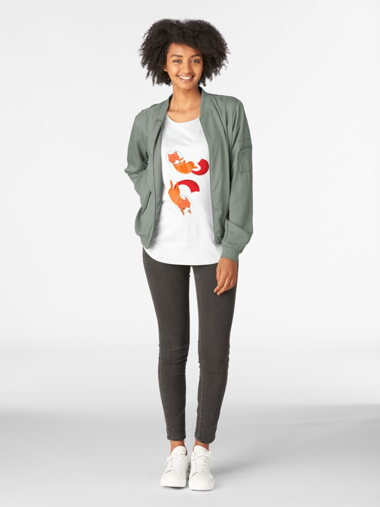 Vista alternativa de Camiseta premium para mujer Zorros espaciales