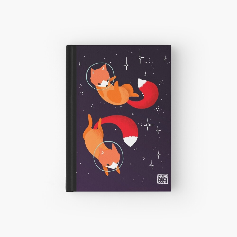 Space Foxes Hardcover Journal
