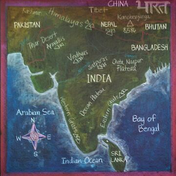 Map of India by brusling