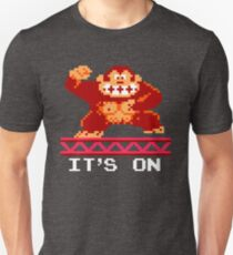It's on like Donkey Kong (bottom text) Unisex T-Shirt